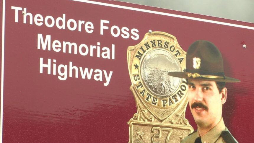 Foss memorial highway sign