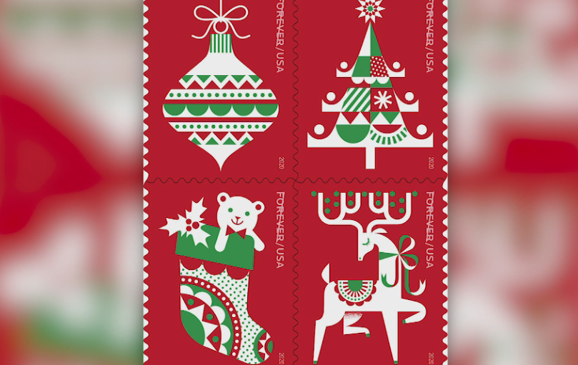 Postal Service unveils 2020 holiday stamps