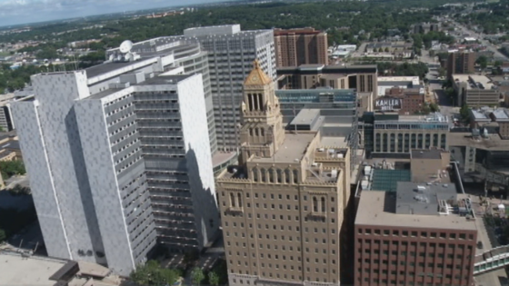 Overhead view of Downtown Rochester