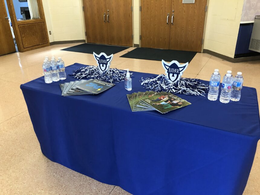 Table at Luther college