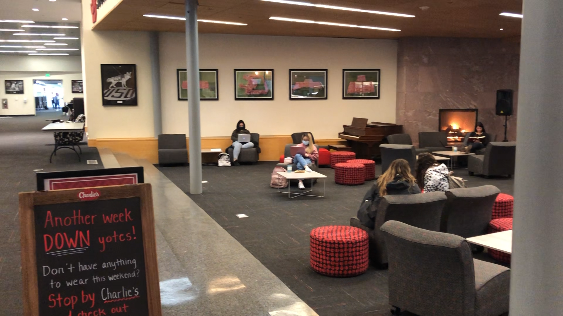People sitting in a common area