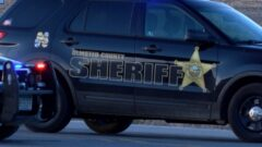 Olmsted County Sheriff's unit at standoff scene
