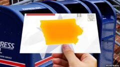 Iowa vote mail graphic