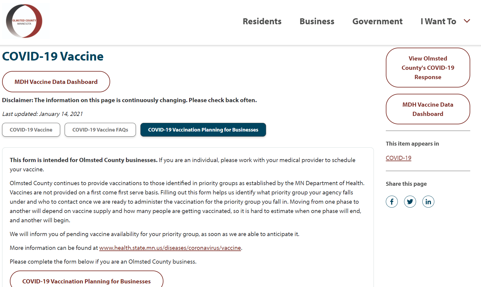 Olmsted County form
