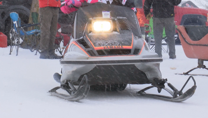 Vintage sled at Cresco's Snowfest at Howard County Fairgrounds