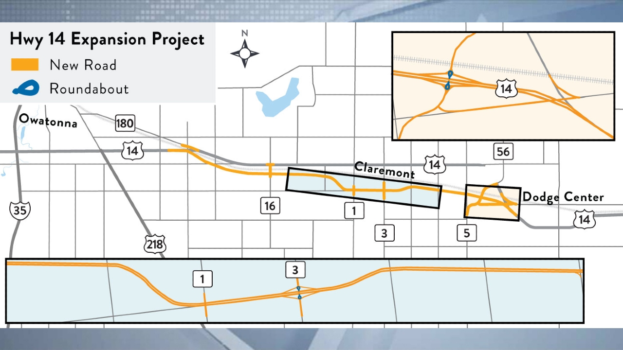 Highway 14 expansion map