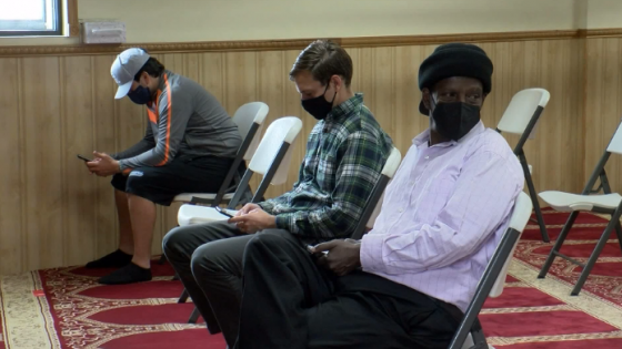 Vaccine clinic at a Minnesota mosque