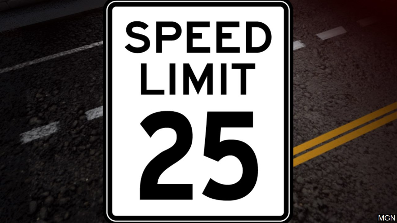 Speed limit 25 graphic