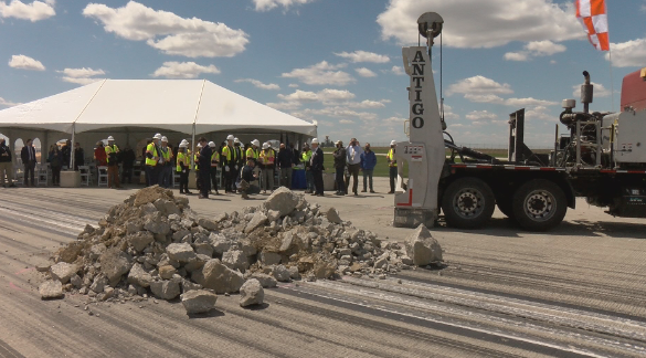 RST breaks ground on runway improvement project
