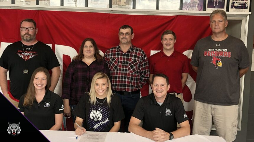 McKenzie Boren West Frankfort CC Runner signs with Lincoln College