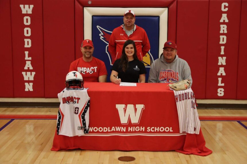 Woodlawn 2021 Softball P Jadyn Griffin signed with Rend Lake