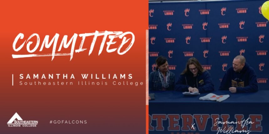 Samantha Williams signed with Southeastern Illinois College