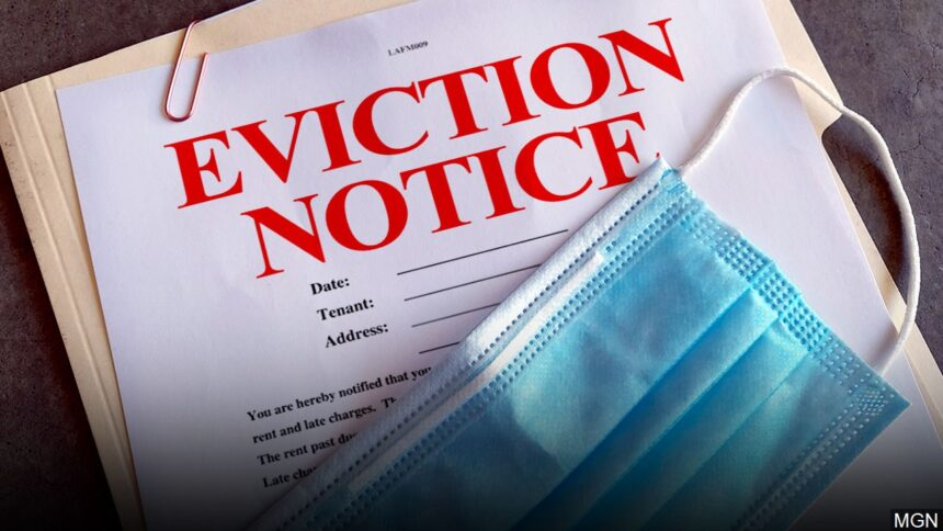 Eviction notice, rent