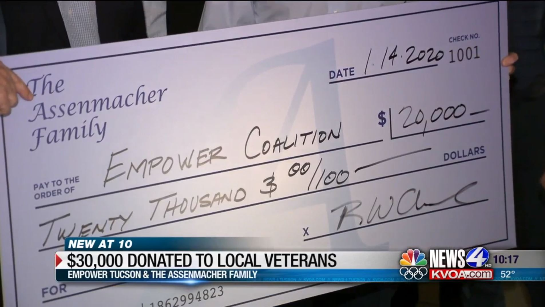 empower tucson gets donation