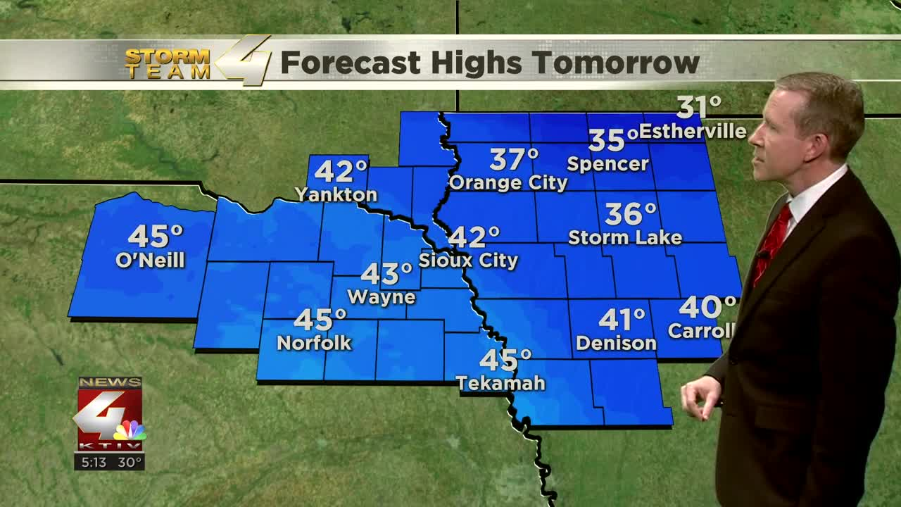 Saturday's Forecast Highs