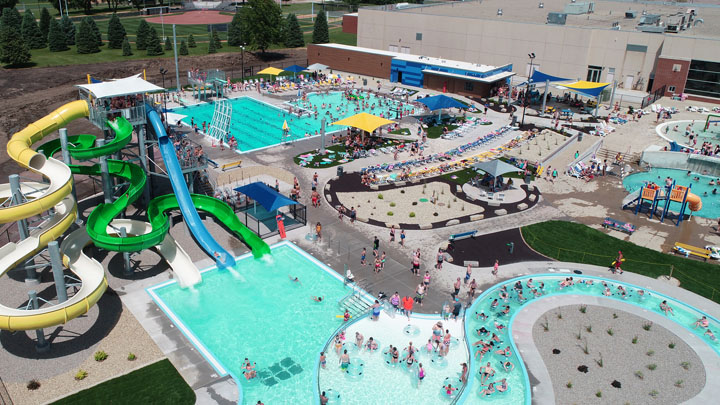 Siouxnami Waterpark, Aerial Shot