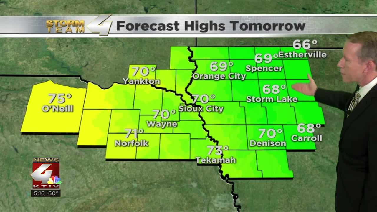 Tuesday's Forecast Highs