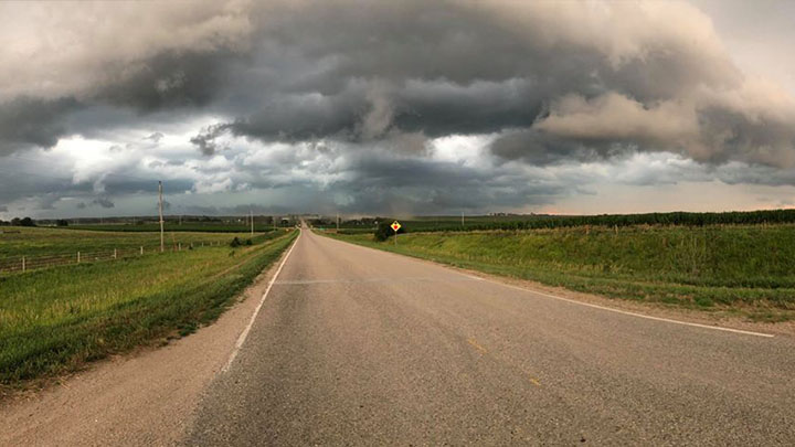 Just outisde of Moville, Iowa - courtesy Karsten Gray