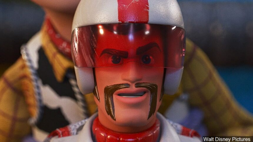Duke Caboom, voiced by Keanu Reeves