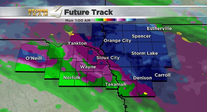 Rain develops this weekend with the potential of snow for much of Siouxland by Sunday night - KTIV