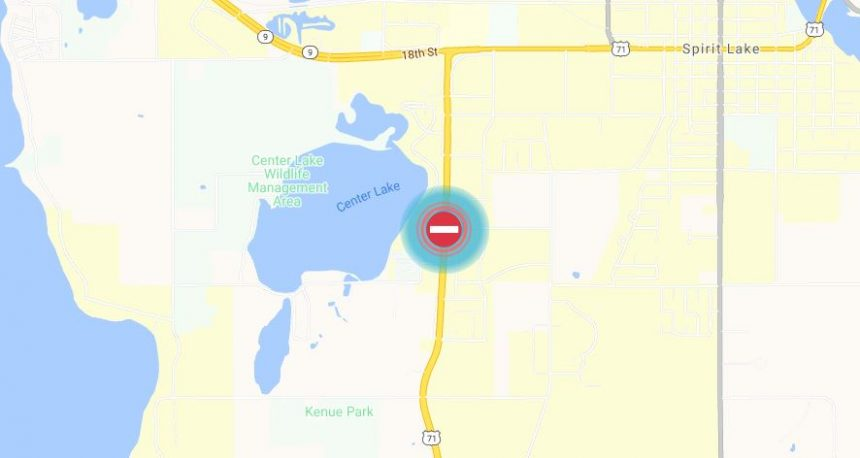 Highway 71 closed due to fire, June 11