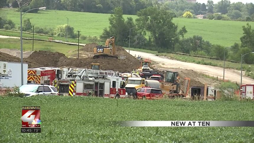 Worker rescued after being buried alive in a trench collapse at Nebraska construction site