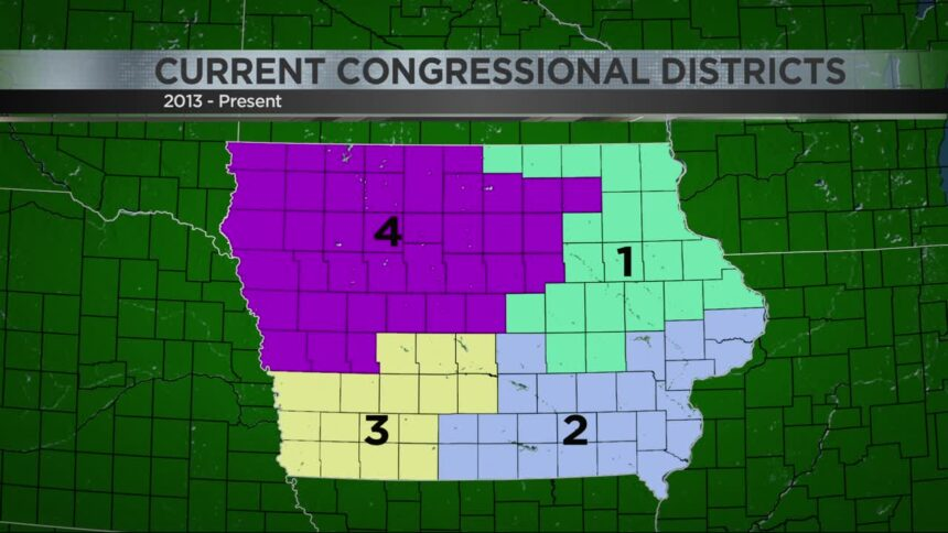 Current Iowa Congressional Districts