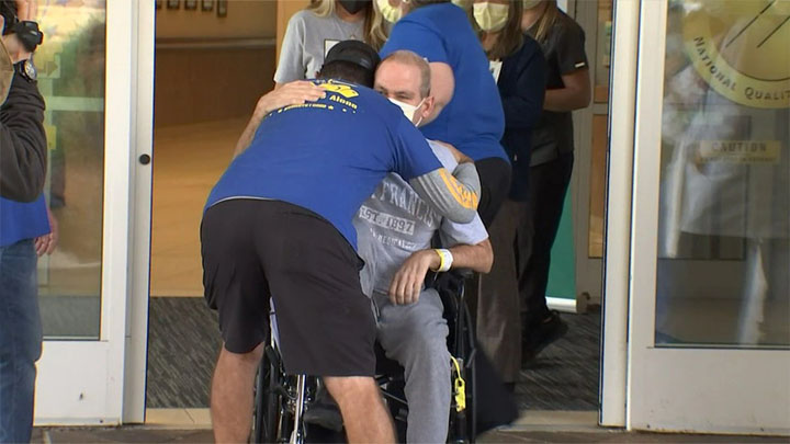 After cross-country search for critical care, man survives COVID-19 thanks to Conn. hospital