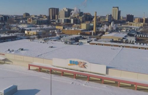 Rochester Kmart building and parking lo