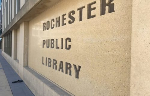 Rochester Public Library sign