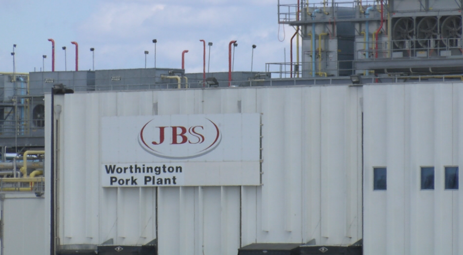 JBS USA plant in Worthington