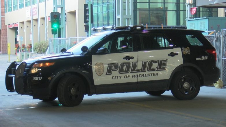 RPD vehicle in downtown Rochester