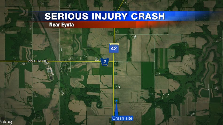 Eyota crash map