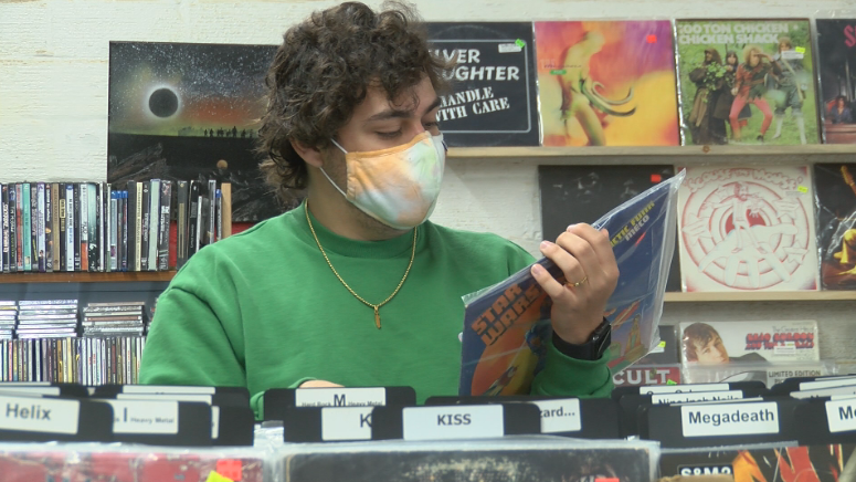 Customer at Rochester Records