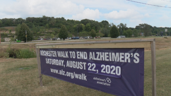 walk to end alzheimer's sign