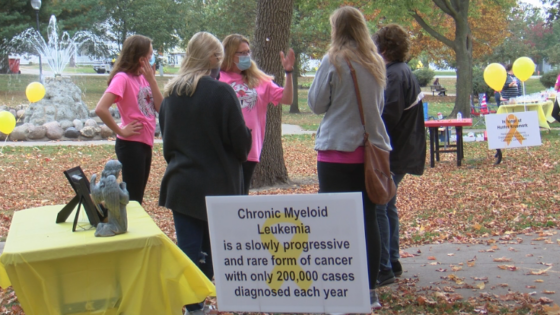 Participants at Lake City cancer walk event