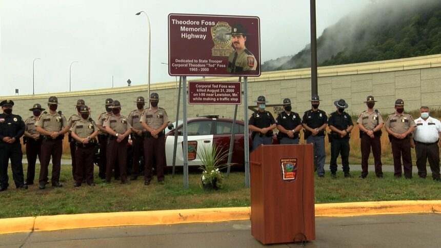 MSP troopers gathered to honor Foss