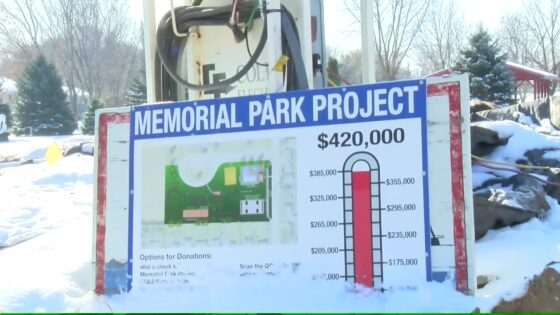 Memorial Park project sign