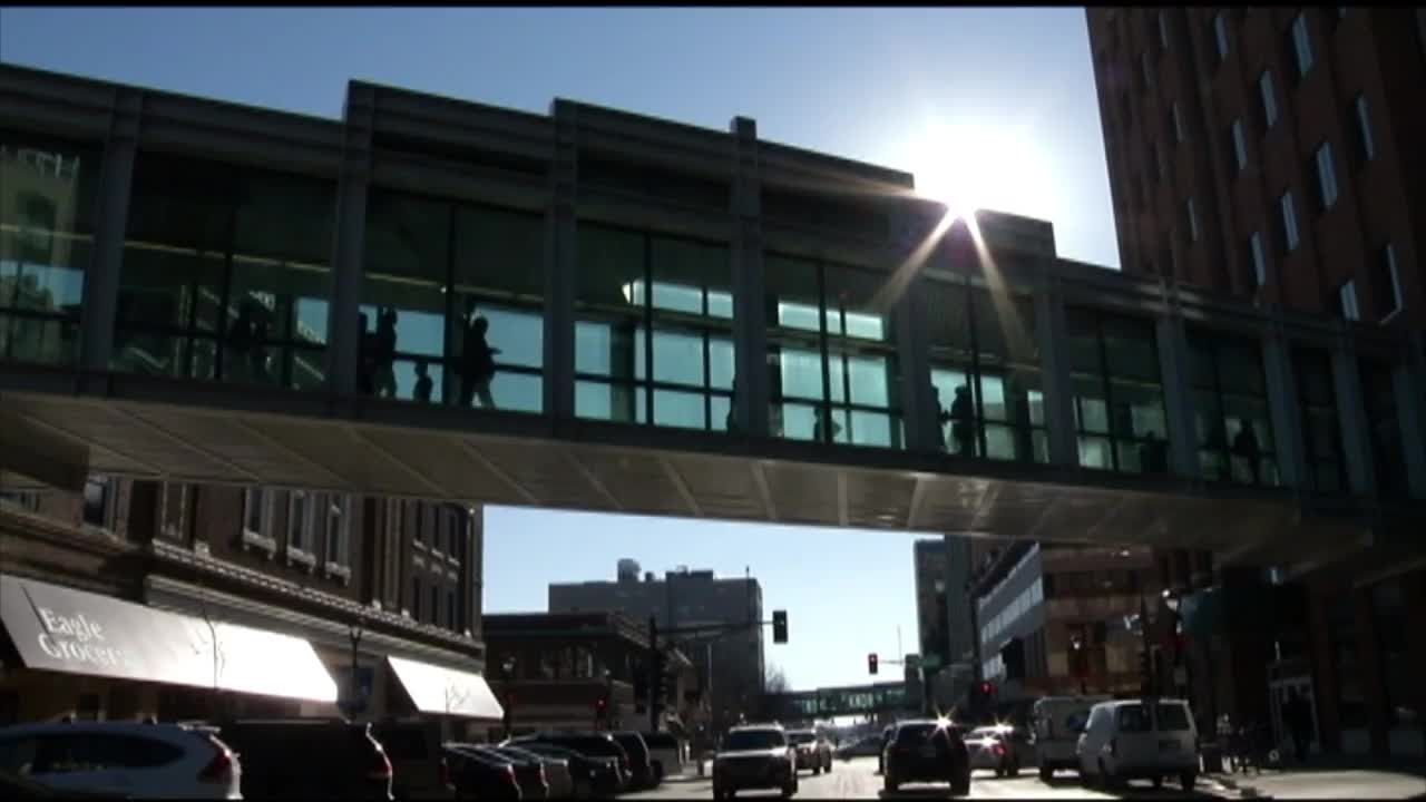 Skyway in downtown Rochester