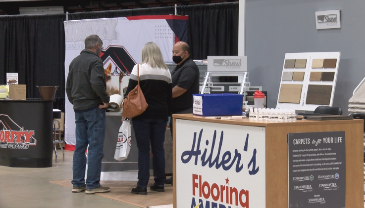 Hiller's Flooring Booth at Mayo Civic Center's Rochester Area Builders Home Show
