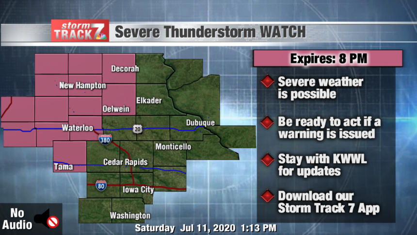 thumbnail_Severe Thunderstorm Watch Alert Map - Engage