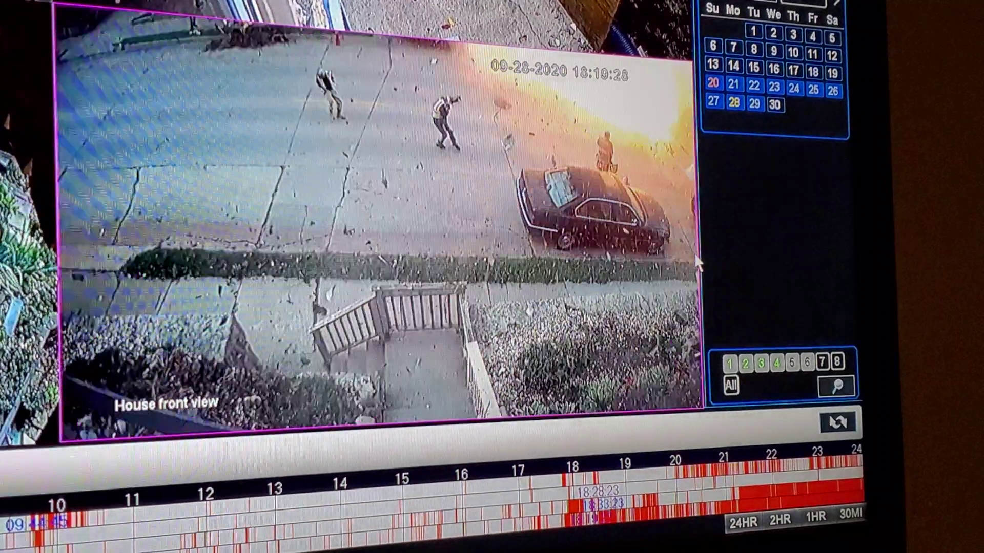 Front porch view of Dubuque explosion