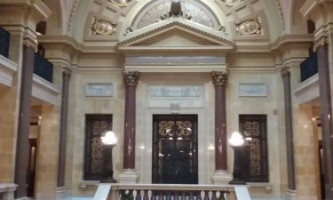 Wisconsin state Senate chambers in the state Capitol in Madison. File photo/WKOW.