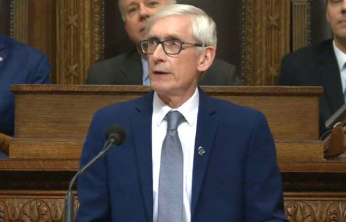 Gov. Tony Evers at his 2020 State of the State address