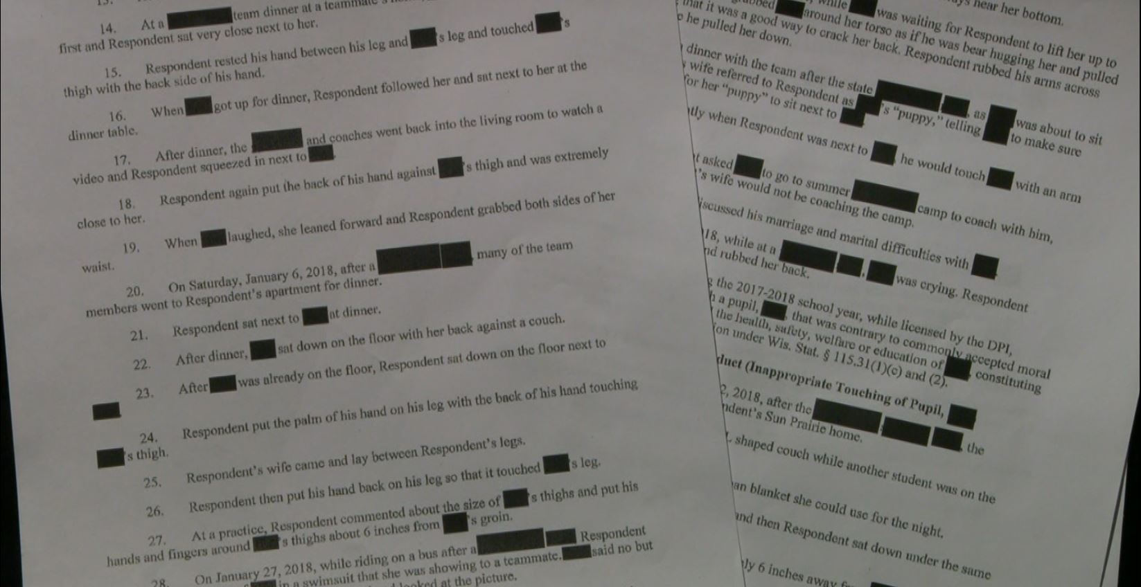 State DPI documents of the investigation into Mike Garrow.
