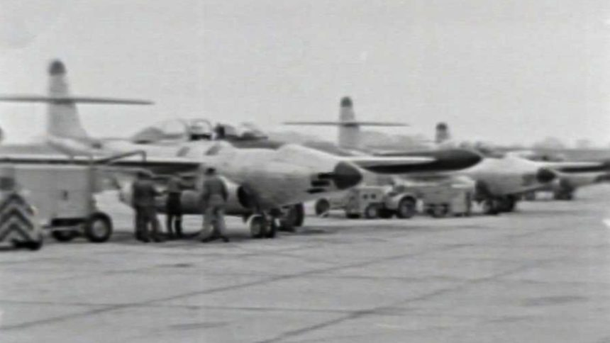 Wisconsin Air National Guard at Truax Field, 1955, with the F-89 Scorpion