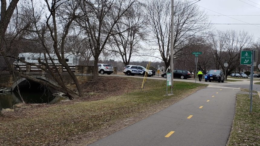Homicide investigation March 31, 2020 near the UW Arboretum in Madison. WKOW photo