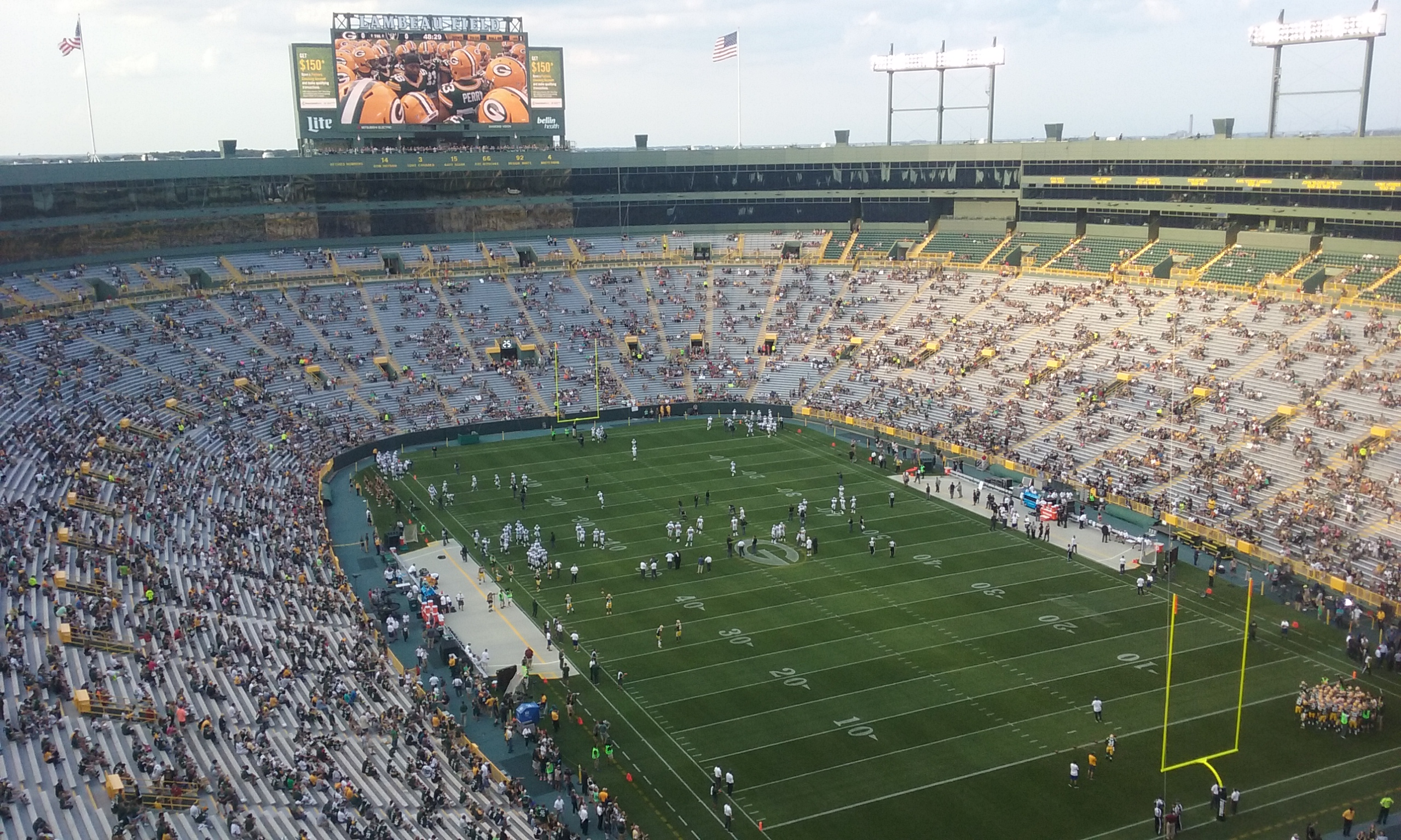 Lambeau Field, home of the Green Bay Packers. File photo.
