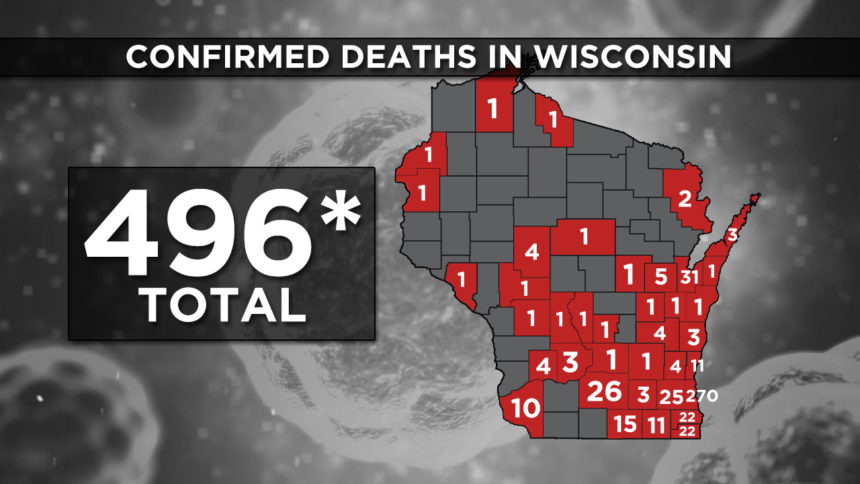 5-22 WI Confirmed Deaths 496