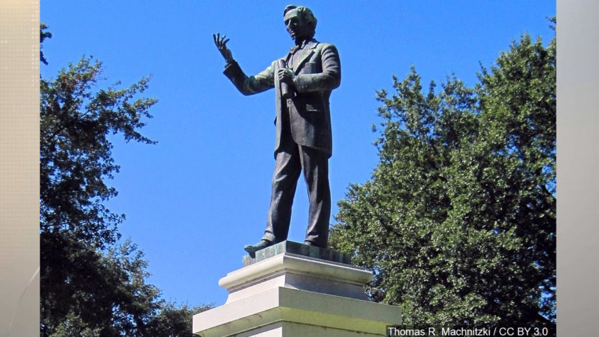 The statue of Jefferson Davis was torn down by protesters June 10, 2020.